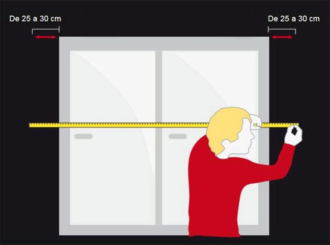 Cómo medir el ancho de cortina acústica